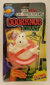 The-Real-Ghostbust-034-Ghost-Logo-034-Doorknob-Cover-Glows-in-the-Dark-on-Card