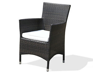 gartenm bel sessel stuhl gartenstuhl polyrattan dunkelbraun aluminium. Black Bedroom Furniture Sets. Home Design Ideas