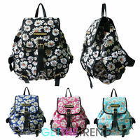 Anna Smith Daisy Flower Rucksack Ladies Designer Floral Girls School Backpack
