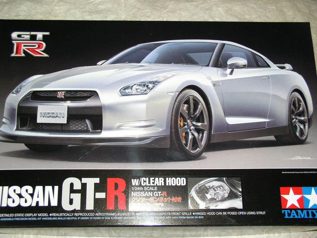 Raro  Tamiya 1 24 Nissan Gt-R Gt-R Gt-R con Trasparente Corpo Vettura Kit e5991d