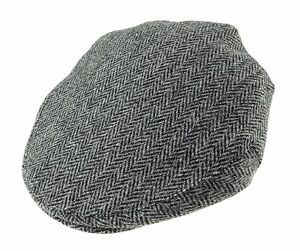 ab06ed0c8f2 Image is loading Mens-Authentic-Harris-Tweed-Flat-County-Cap-Grey-