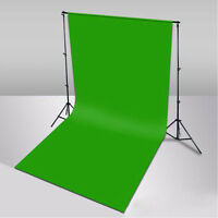 3x2.8m Photography Studio Background Stand + 3x6m Muslin Cotton Green Backdrop on sale