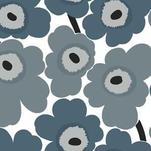 Details About 23353 Marimekko 5 Abstract Flowers Grey Teal White Galerie Wallpaper