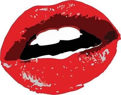 SKULL LIPS Vinyl Decal Sticker Car Window Wall Bumper Pirate Crossbones JDM Kiss