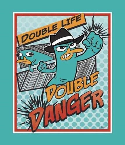 Comic panel Cotton Fabric Double Life Disney Phineas /& Ferb Agent P