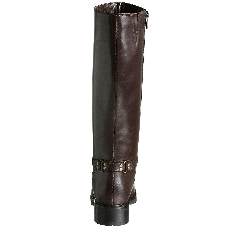 Women's Santana Nicky Tall Tall Tall Zip On Boots Espresso Brown Leather 3115fc