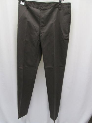Mens Pants chino choclate Brown expanding waist 57-58 39-40 unhemmed NEW uniform