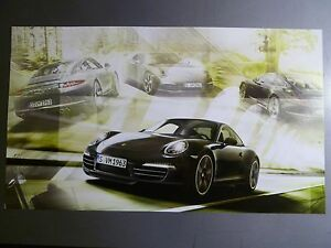 2013-2014-Porsche-911-Carrera-Coupe-Showroom-Advertising-Poster-RARE-Awesome