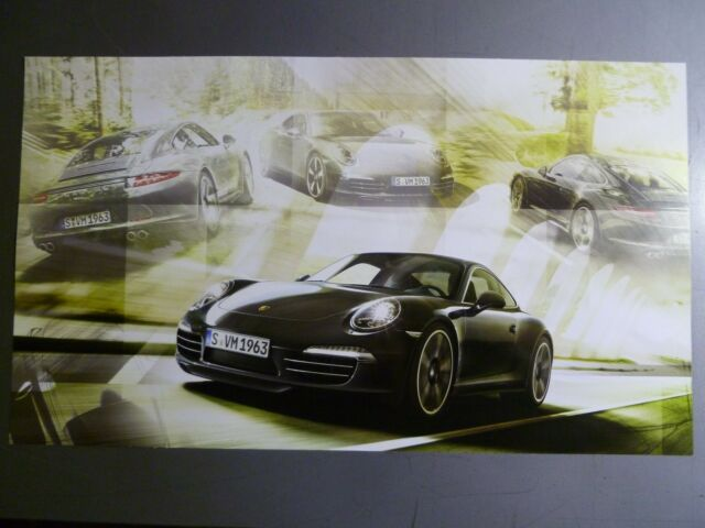 2013 / 2014 Porsche 911 Carrera Coupe Showroom Advertising Poster RARE!! Awesome