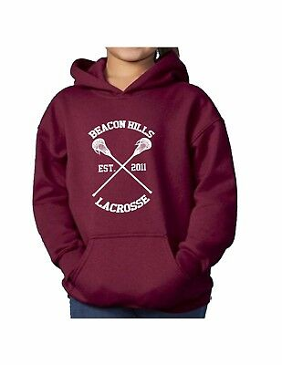Teen Wolf Stilinski McCall Heather Grey Hoody Top Beacon Hills Lacrosse Hoodie