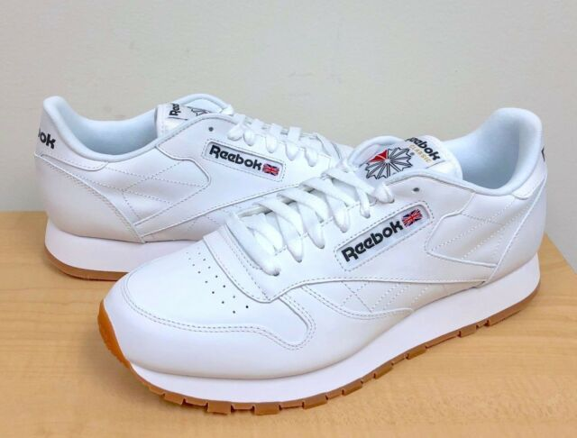 8eed389346d Reebok Classic Leather 49797 White gum Men US Sz 14 for sale online ...