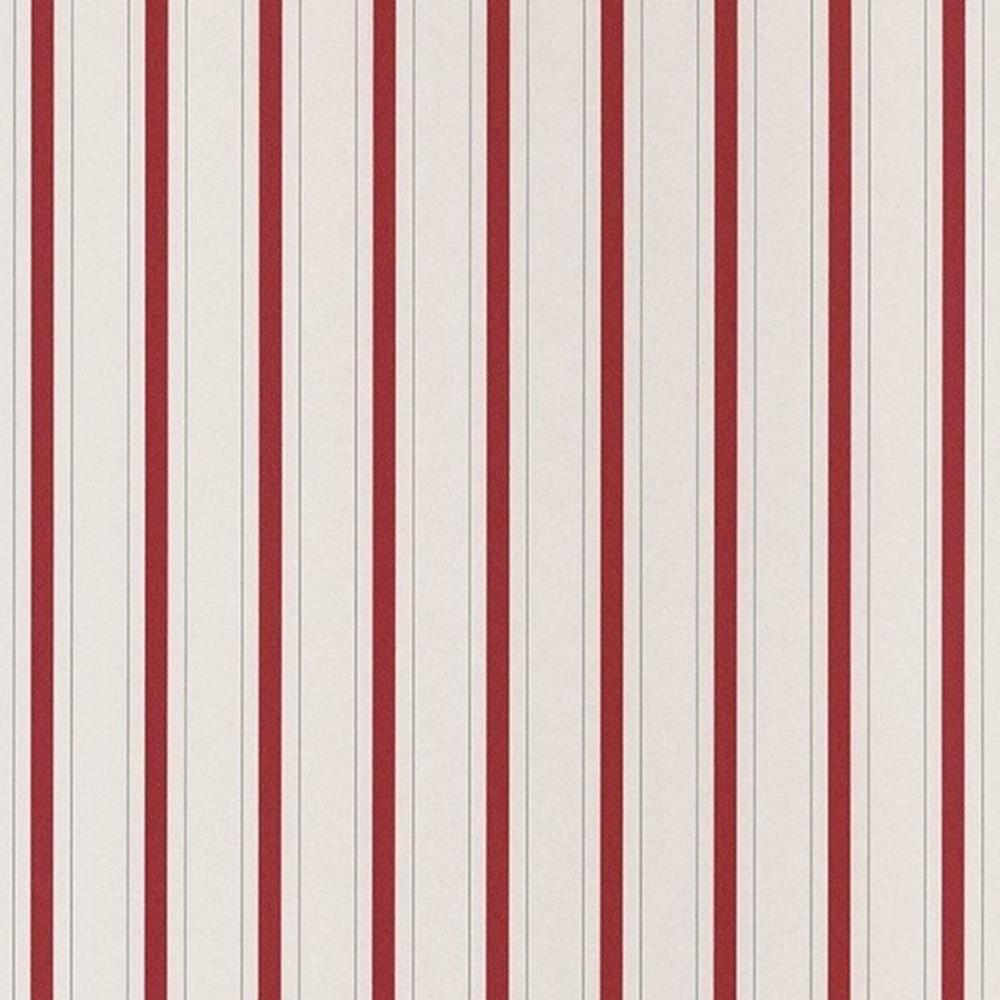 81578101 - Fontainebleau rot weiss Streifen Casadeco Tapete