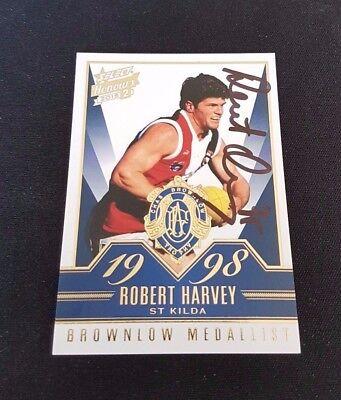 2015 AFL HONOURS 2 BROWNLOW SKETCH CARD BSK91 ROBERT HARVEY