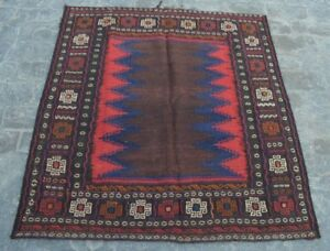 Antique Afghan Tribal Decor Sofreh Kilim/ Sufreh Turkish Rug 4'1 X 4'4 Ft Y44 Rugs & Carpets