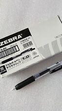 Zebra Sarasa retractable gel ink pen 1.0mm x 10 pcs black ink