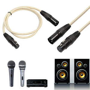 Eg-0-3-20M-Mixer-Microfono-3PIN-XLR-Maschio-a-Femmina-Cavo-Audio-Alluri