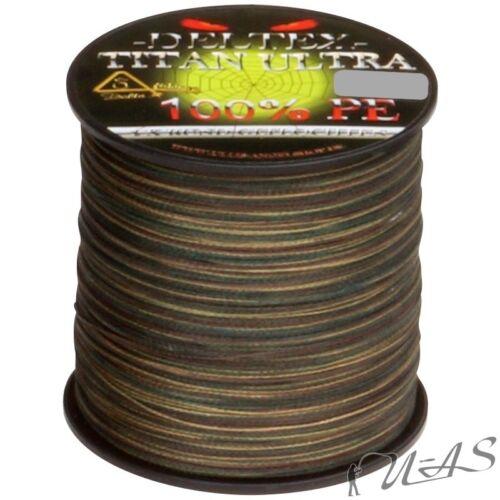 DELTEX Titan Ultra Camou 0.28mm 24.00kg 300M 4 fach Rund Geflochtene Angelschnur