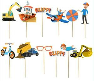 12PC 24PC BLIPPI CUPCAKE BALLOON CUP PLATE CAKE TOPPER