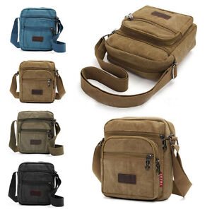 Mens-Retro-Canvas-Leather-School-Shoulder-Bag-Satchel-Outdoor-Military-Messenger