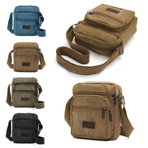 Men Canvas Shoulder Bag Military Messenger Bag Satchel Crossbody Casual Handbag