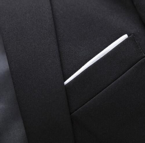 3 pieces men two button slim fit wedding party suits short jacket pants vest new