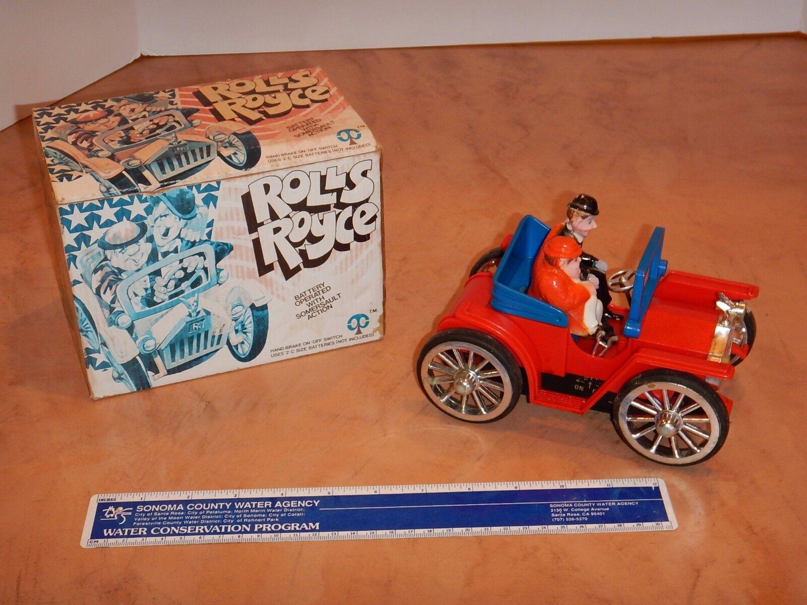 70er - jahre - rolls - royce batteriebetriebenes spielzeug, laurel & hardy, original - box, die
