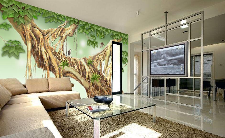 3D Tree Roots Bird 72 Wall Paper Murals Wall Print Wall Wallpaper Mural AU Kyra