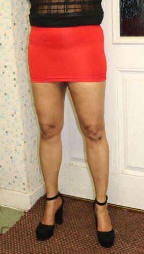 Red Short Mini Skirt Stretchy Bandage Ladies High Waist Micro Mini Skirt 050