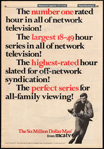 THE-SIX-MILLION-DOLLAR-MAN-Original-1976-Trade-AD-poster-TV-promo-LEE-MAJORS
