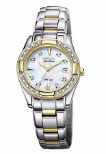Citizen Eco-Drive Women's EW1824-57D Diamond Accents Mother of Pearl Dial Watch