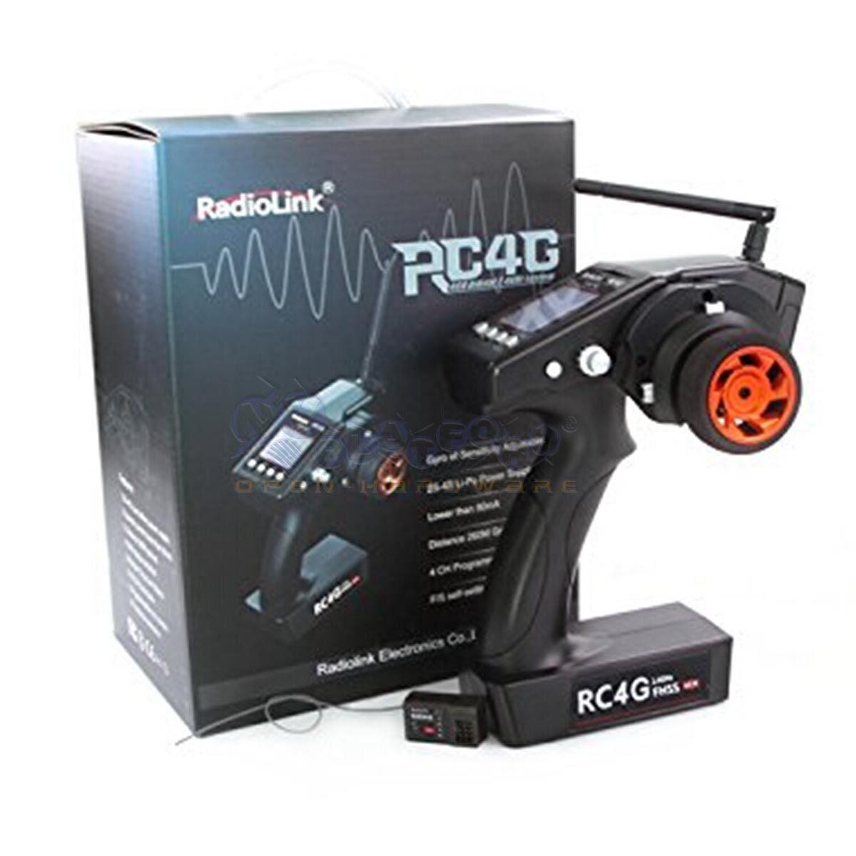 Radio Link RC4G 2.4G 4CH Channel Digital Surface Radio with Gyro RC Car Boat Etc