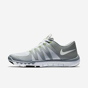low priced d2258 961eb Details about Nike Men's Free Trainer 5.0 V6 719922 100 White Grey Silver  Size 8