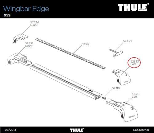 959 Abdeckkappe links für Wingbar Edge COVER Left