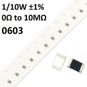 0201 SMD//SMT Resistors Chip Resistance 1//20W ±1/% 0Ω to 10MΩ Range of