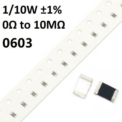 RES SMD 16K OHM 0.05/% 1//10W 0603 RG1608N-163-W-T1 Pack of 100