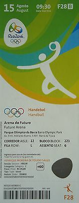 Slowenia # F28 To Clear Out Annoyance And Quench Thirst Ticket 15/8/2016 Olympic Rio Handball Men's Poland Polska Sports Memorabilia Rio 2016