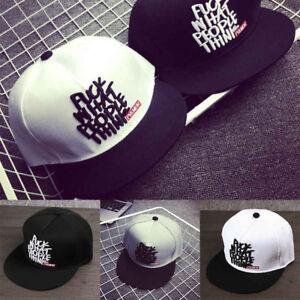 Fashion-Men-Women-Bboy-Brim-Adjustable-Baseball-Cap-Snapback-Hip-Hop-Hat-Unisex