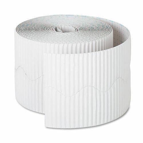 2 1//4  x 50/' Roll PAC37016 RL White Pacon Bordette Decorative Border