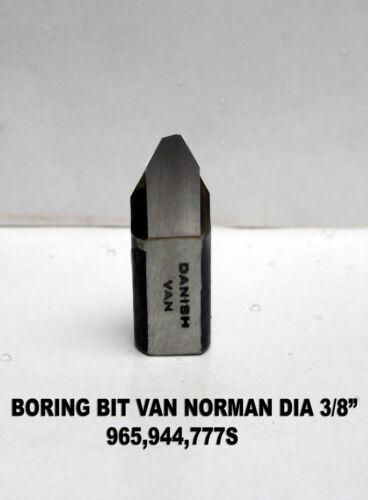 "944s H.V.K-03 VAN NORMAN BORING BAR TOOL BIT CARBIDE TIPPED 3//8/"" V Type 777s4"
