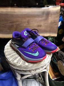 Nike Air Zoom KD VII Purple Aqua GS Shoes Youth Sz 5.5 / Women's 7 669942-500