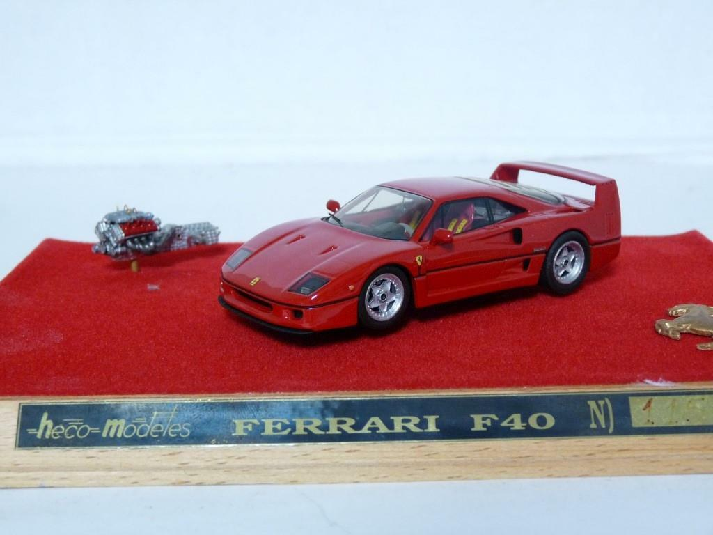Heco N140 1 43 1988 Ferrari F40 with Engine Set Handmade Resin Model Car
