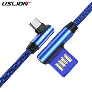 Type-C-90-Degree-Right-Angle-USB-C-Data-Sync-Cable-Fast-Charging-Charger-Cable