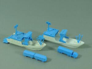 Barcos-Fahren-Ue-Aprox-1986-Set-Completo-Blanco-Azul-Claro-Rareza