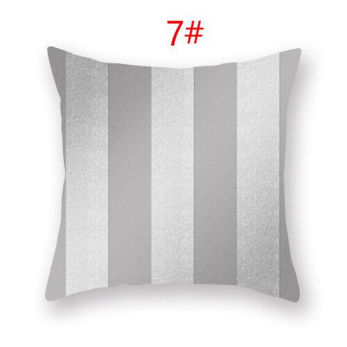 Silver Gray Cushion Cover Geometric Pillow Case Pillowcase Sofa Home Decor New