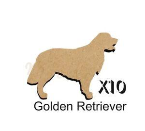 MDF-Shape-Dog-10-GOLDEN-RETRIEVER-MDF-cutouts-keyring-5-SiZES-DOGW133