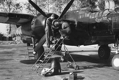 WWII B/&W Photo P-40 Warhawk Engine Pacific  WW2 World War Two USAAF  //5074