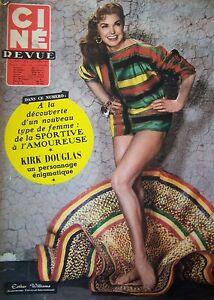 Cinema-Cine-Rivista-N-8-di-1957-Esther-Williams-Kirk-Douglas-Cocteau-039-Valli