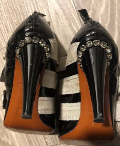 3 Rows Bows Crystal Sz W Heels Lanvin French 37 Of fRWAIntp