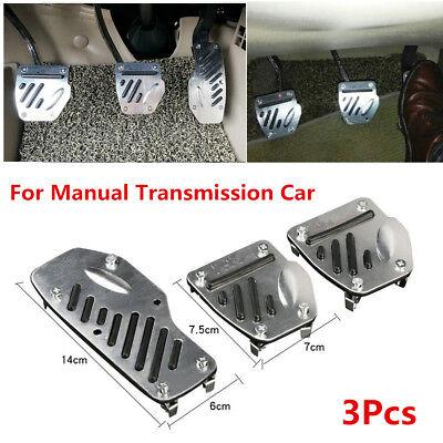 Manual Transmission 3 PCS Blue Car Vehicle Accelerator Brake Foot Pedal Cover Set MT