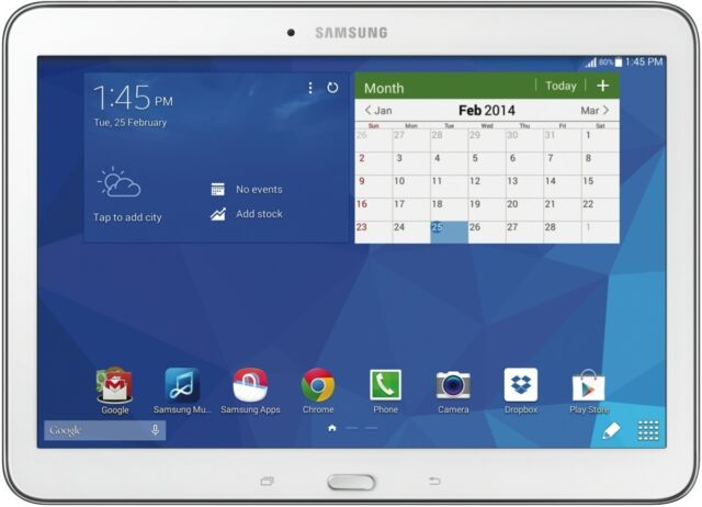 "Samsung SM-T530NZWAXSA Galaxy Tab 4 10.1"" 16GB WiFi White NEW"